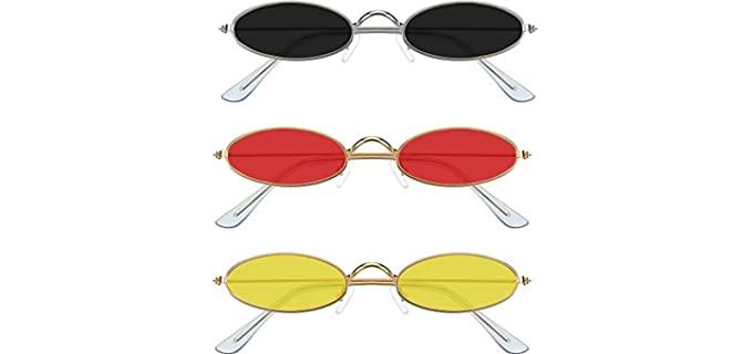 Frienda Women's 3 Peice - Sunglasses for Small Faces