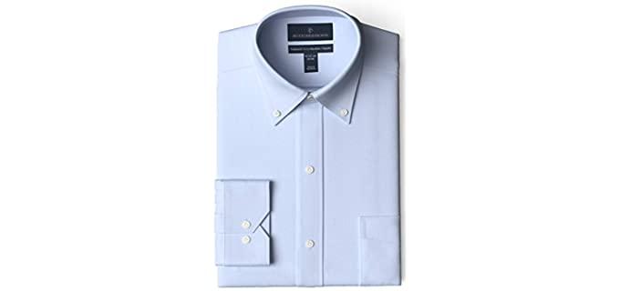 Amazon Basics Men's Tailored Fit - No Iron Dress Shirt