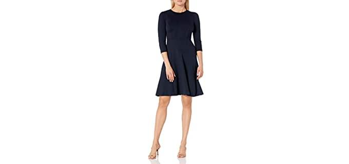 Eliza J Men's Fit and Flare - dress for Apple Shape Figures