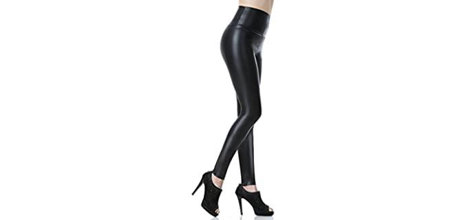Everbellus Women's Sexy - Leather Leggings