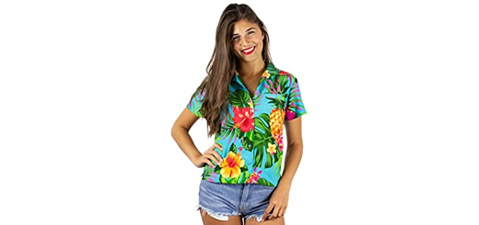 King Kameha Women's Funky - Hawaiian Shirt