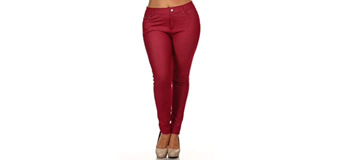 Iconoflash Women's Stretch - Jeans for Curvy Women