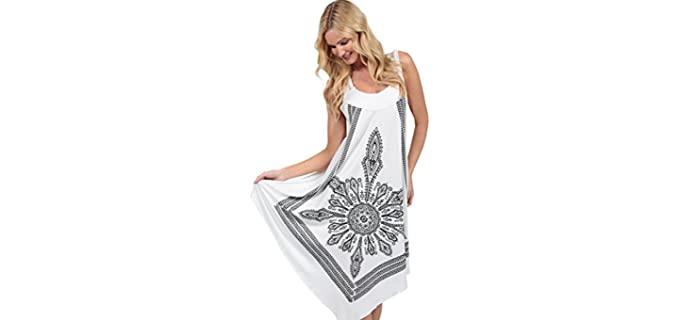 INGEAR Women's Graphic - Apple Figure Flattering Dress