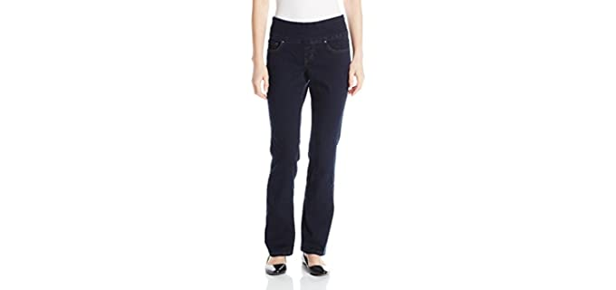 Jag Women's Petite - Muffin Top Hiding Jeans