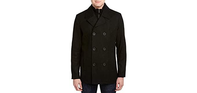 Kenneth Cole Men's Pea Coat - Warm Winter Coat