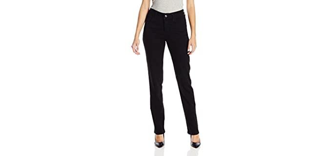 Lee Women's Classic - Black Colored Straight Leg Jeans