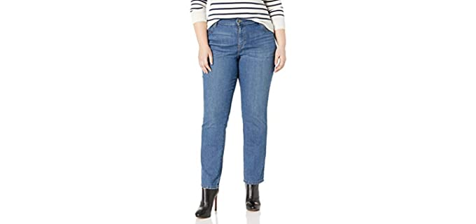 Lee Women's Plus Size - Straight Leg Jeans to Hide a Muffin Top