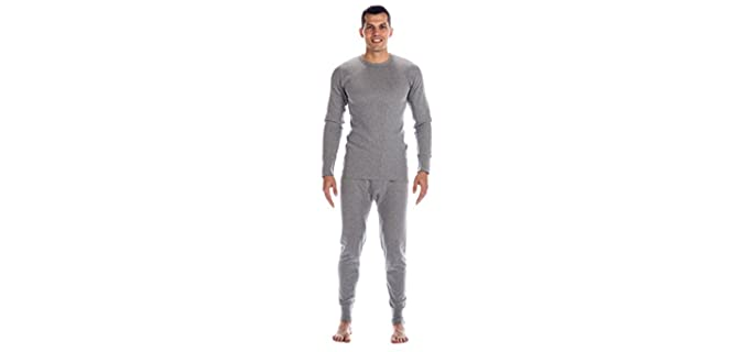 Noble Mount Men's Extreme Cold Waffle - Knit Thermal Top and Bottom Underwear Set