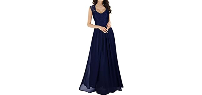 Miusol Women's Casual Deep - Apple Figure Flattering Dress