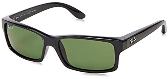 Rayban Unisex Rectangular - Polarized Round Face Sunglasses