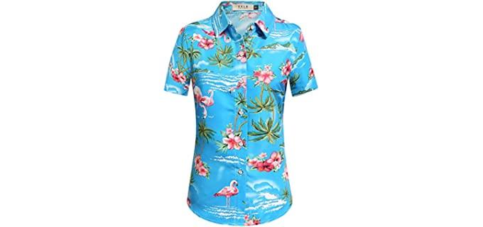 SSLR Women's Flamingos - Hawaiian Shirt