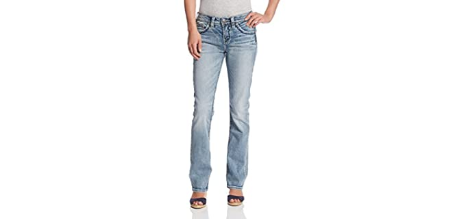 Silver Jeans Women's Baby - Boot Cut Jeans to Hide a Muffin Top