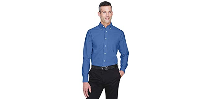 Ultra-Club Men's Oxford - Wrinkle Free Dress Shirt