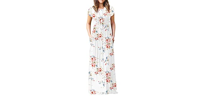 VIISHOW Women's Empire Dress - Dress for Apple Figures