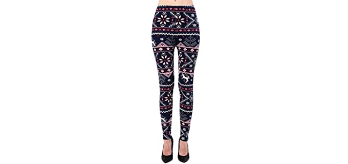VIV Collection Women's Buttery Soft - Slimming Effect Leggings