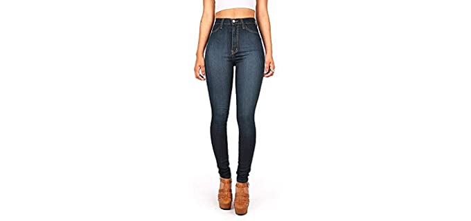 Vibrant Women's High Cut - Best Jeans for Pear Shaped Body