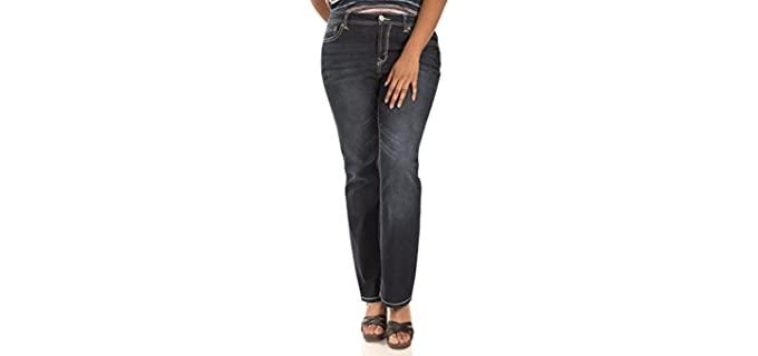 WallFlower Women's Legendary - Shaping Jeans for Apple Figures