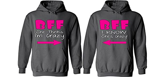 Couples Apparel Women's BFF - Matching Couple Hoodies