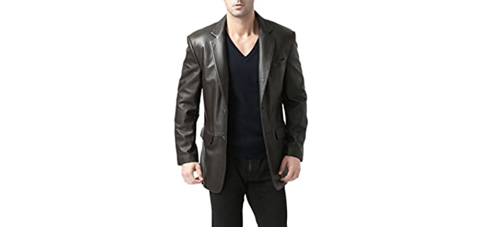 BGSD Men's Richard Classic - Classic Leather Jacket