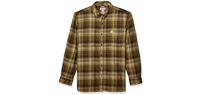 Crahartt Men's Rugged Flex - Regular Fit Flannel Shirt