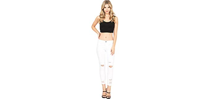 Cello Jeans Women's Juniors - Distressed Skinny Jeans
