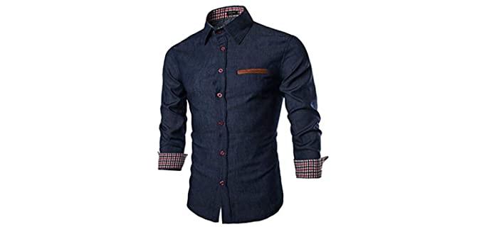 Coofandy Men's Casual Dress - Dress Shirt