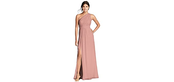 David's Bridal Women's Chiffon - Dress to Wear to a Wedding