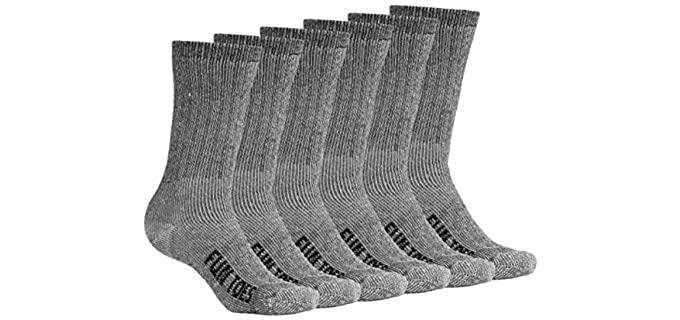 Fun Toes Unisex Merino Wool Socks - 6 Pair Merino Wool Socks for Unisex