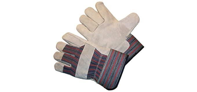 G & F Unisex Cowhide Leather Gloves - Best Cowhide Work Gloves - 60 pairs