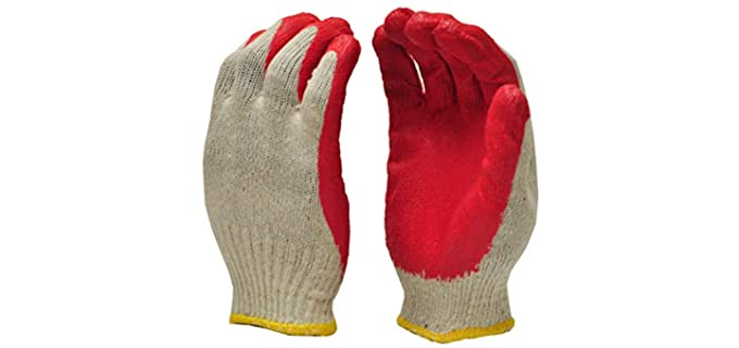 G&F Unisex Palm Gloves - Best Nitrile Work Gloves