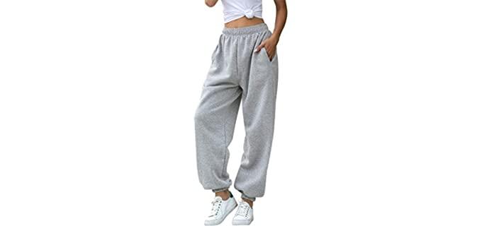 HeSaYep Women's High Waisted - Best Baggy Sweatpants