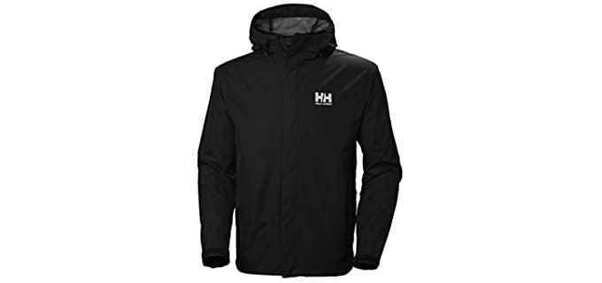 Helly Hansen Men's Waterproof & Windproof - Rain Jacket with Hood