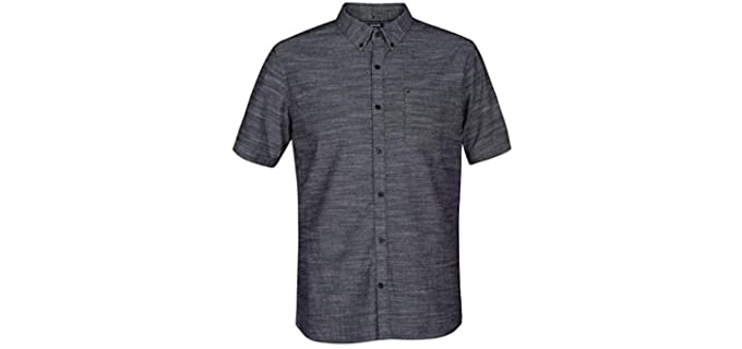 Hurley Men's One and Only - Short Sleeve Dress Shirt