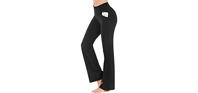 IUGA Women's Bootcut - Black Work Pants