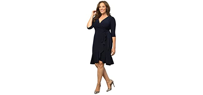 Kiyonna Women's Plus Wrap Dress - Kiyonna Wrap Dress