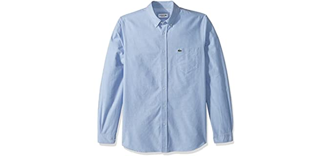 Lacoste Men's Long Sleeve - Lacoste Button Down Shirt