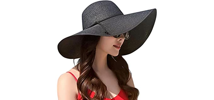 Lanzom Women's Straw - Hat for Sun Protection
