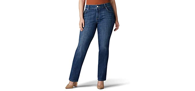 Lee Women's Relaxed - Fit Straight Leg Jeans
