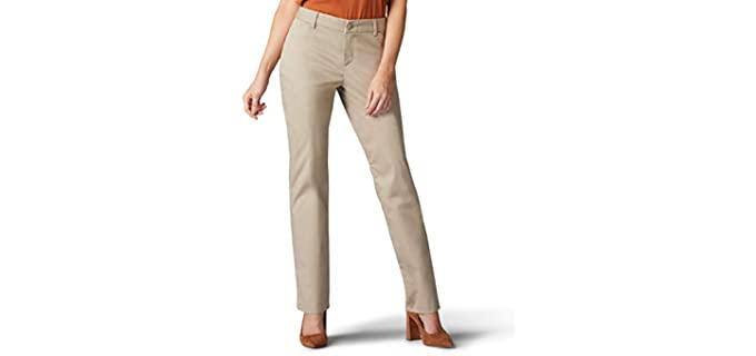 LEE Women's Wrinkle - Khaki Work Pants