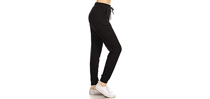 Leggings Depot Women's Activewear - Track Cuff Sweatpants
