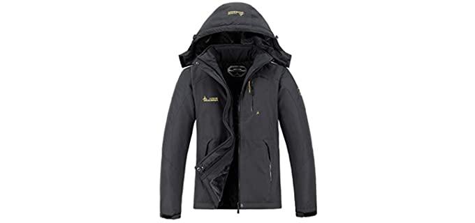 MOERDENG Men's Ski Jacket - Winter Snow Coat