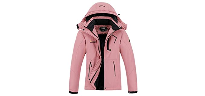 Moerdeng Women's Waterproof - Winter Jacket