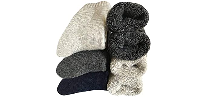 Yoicy Men's Thick Wool Socks - Thick Winter Socks