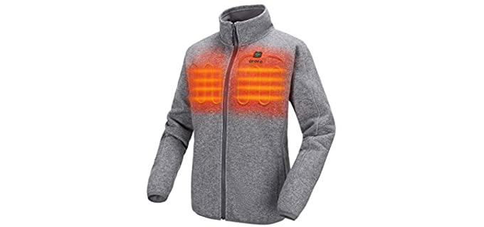 ORORO Women's Heated Jacket - Fleece Jacket with Battery Pack