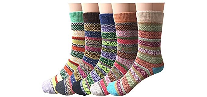 Justay Men's 5 Pack - Best Wool Socks for Men