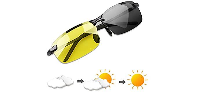 YIMI Unisex Photochromic - Driving Sunglasses