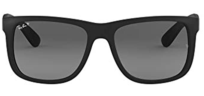 Ray Ban Men's Rb4165 - Justin Rectangular Polarised Sunglasses