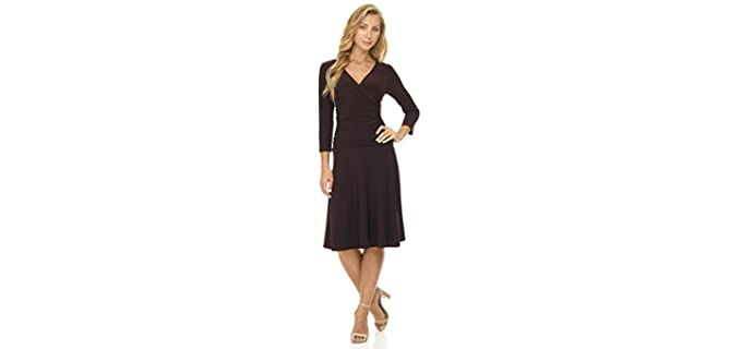 Rekucci Women's 3/4 Sleeve Dress - Tummy Control Dress
