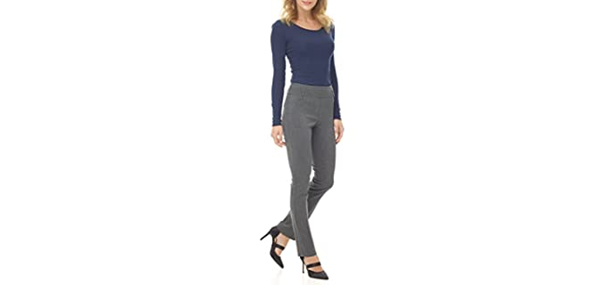 Rekucci Women's Ease - Comfort Stretch Slim Pant