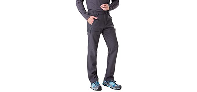 Trailside Supply Men's Fleece Lined - Cold Weather Snow Pants